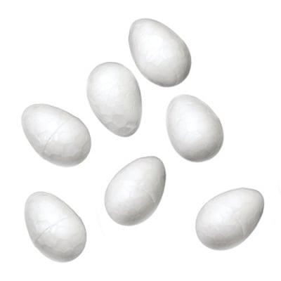 Яйце стиропор 17х12 мм за декорация -50 броя