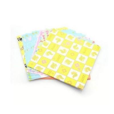 Хартия за оригами 15.3x15см 25 листа АСОРТЕ цветове и щампи