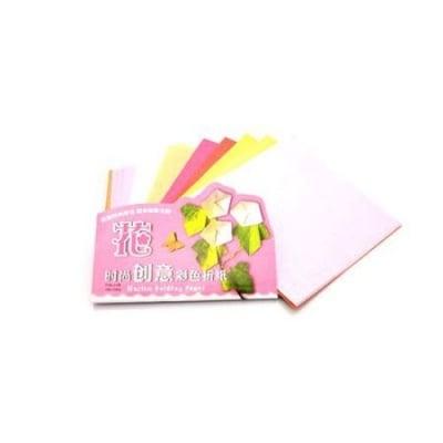 Хартия за оригами 15.3x15см 25 листа -5 цвята x 3 листа и 5 цвята x 2 листа