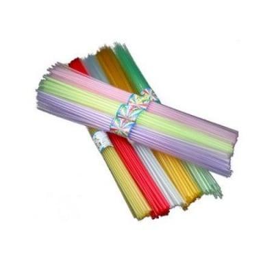 Пластмасова сгъваема сламка за оригами 40 мм АСОРТЕ цветове ~30 броя