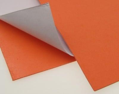 EVA материал /микропореста гума/ 2 мм А4 20х30 см самозалепващ оранжев