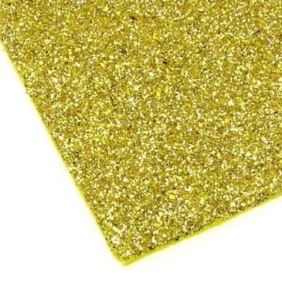 EVA материал /микропореста гума/ 2 мм А4 20х30 см с брокат злато