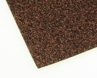 EVA материал /микропореста гума/ 2 мм А4 20х30 см с брокат кафяв