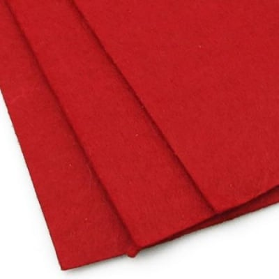 Филц 2 мм A4 20x30 см цвят червен -1 брой