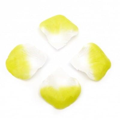 Листо хартия за декорация бяло с резида -144 броя