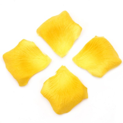 Листо хартия за декорация жълто тъмно -144 броя