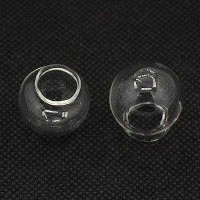 Сфера стъкло за декорация 22x20 мм отвор 10 мм ръчна изработка