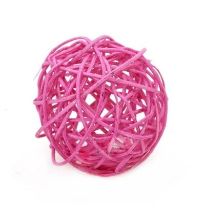 Сухи топки дърво 70 мм розови