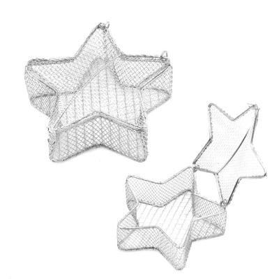 Звезда метална 85x85 мм цвят сребро