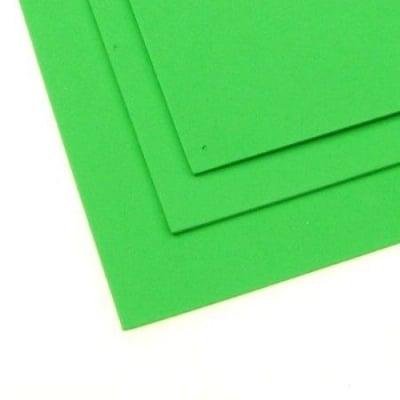 EVA материал /микропореста гума/ 2 мм А4 20х30 см зелен светъл