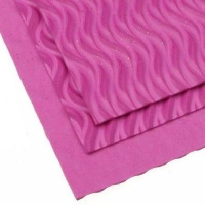 EVA материал /микропореста гума/ 2 мм А4 20х30 см на вълни розов