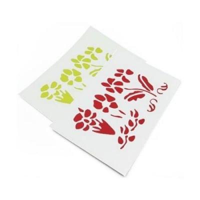 Комплект - тип пъзел EVA материал /микропореста гума/ двулицева с пластмасов шаблон цветя