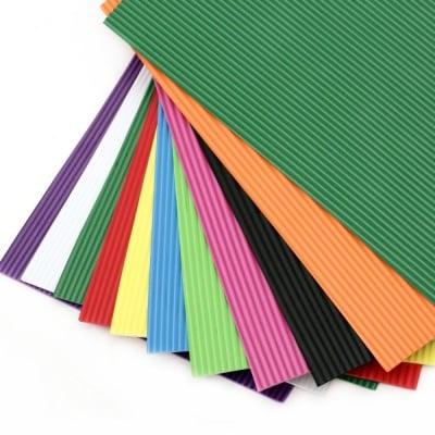 EVA материал /микропореста гума/ 2 мм А4 20х30 см гофриран, АСОРТЕ цветове -10 листа