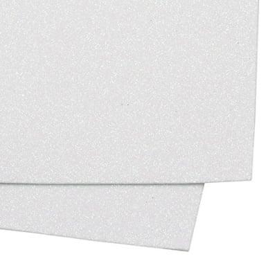 EVA материал /микропореста гума/ 2 мм А4 20х30 см с брокат бял