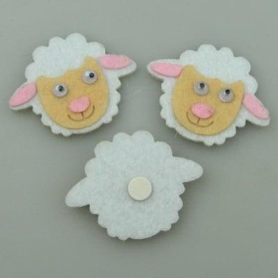 Овца филц с лепка -10 броя