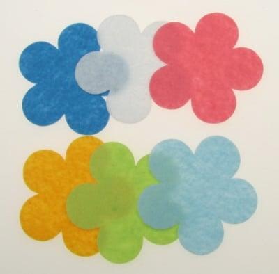 Цвете филц 57x1 мм микс цветове -5 броя