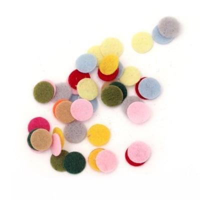 Кръг филц 10x1 мм микс цветове -50 броя