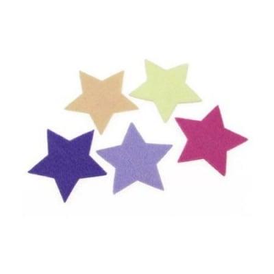 Звезда филц 60x3 мм микс цветове -5 броя