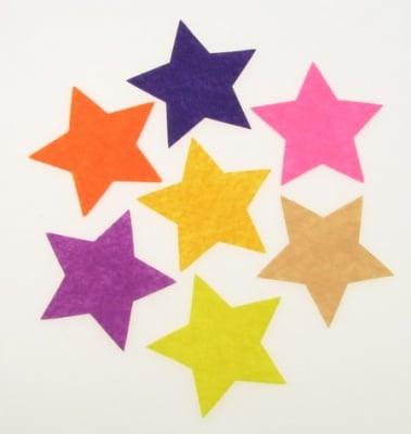Звезда филц 60x1 мм микс цветове -5 бр