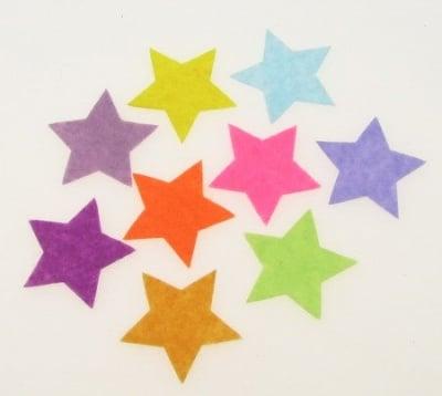 Звезда филц 32x1 мм микс цветове 10 броя
