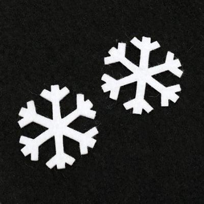 Снежинка филц 47x2 мм бяла -10 броя