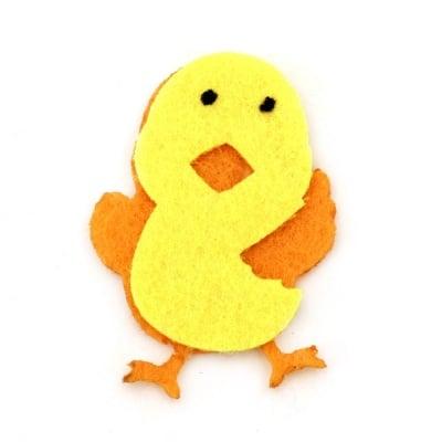 Пиле филц с лепка 40x29 мм -10 броя