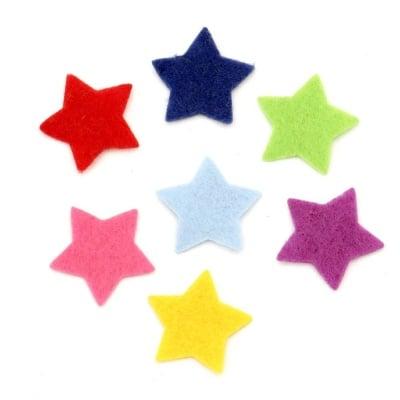 Звезда филц 20x1 мм микс цветове 20 броя