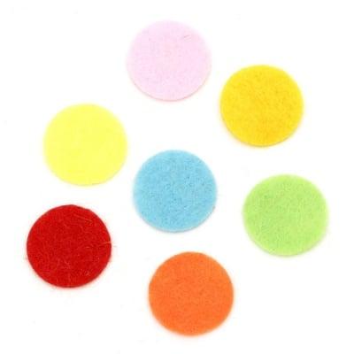 Кръг филц 15x1 мм микс цветове 20 броя
