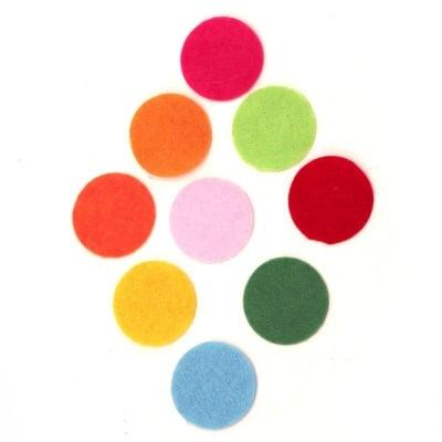 Кръг филц 25x1 мм микс цветове 20 броя