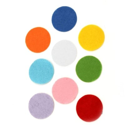Кръг филц 35x1 мм микс цветове 10 броя