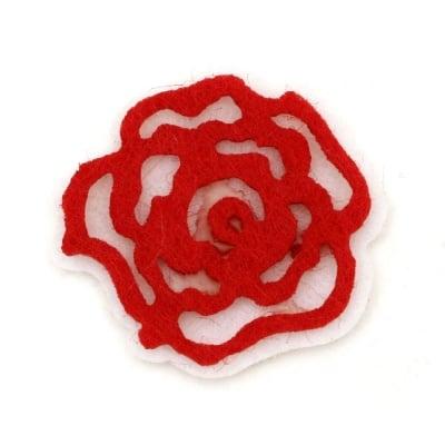 Роза филц 30x40 мм 2 пласта -10 броя