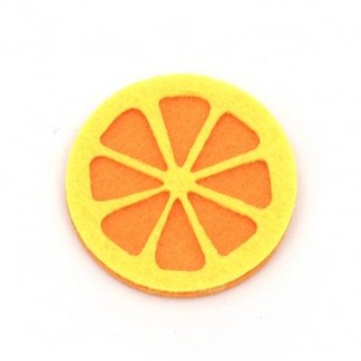 Портокал филц 40x40 мм -10 броя