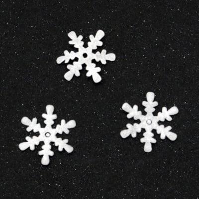 Снежинка филц 15x15 мм -20 броя