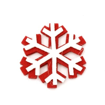 Снежинка филц с лепка 32 мм -10 броя