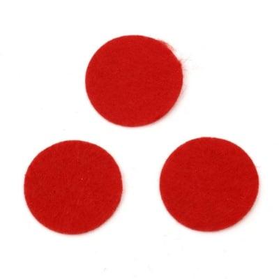 Кръг филц 30x1 мм червен -20 броя