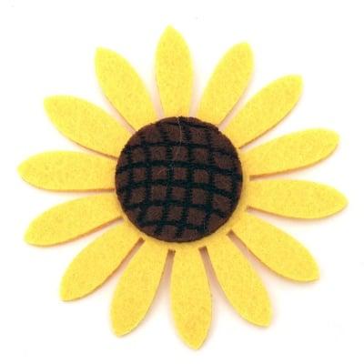 Слънчоглед филц 77x6 мм жълт -5 броя