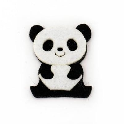 Мече панда филц 41x34x5 мм 2 пласта -10 броя