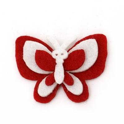 Пеперуда филц 32x43x8 мм 4 пласта -10 броя