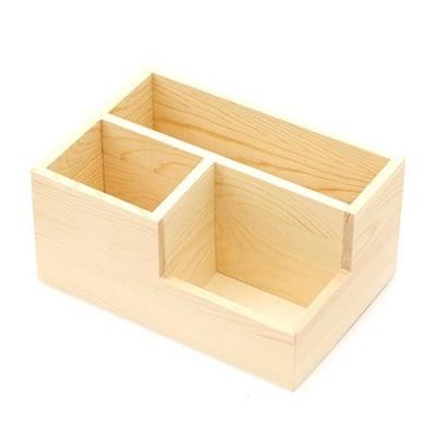 Органайзер дървен 200x140x95 мм три разделения