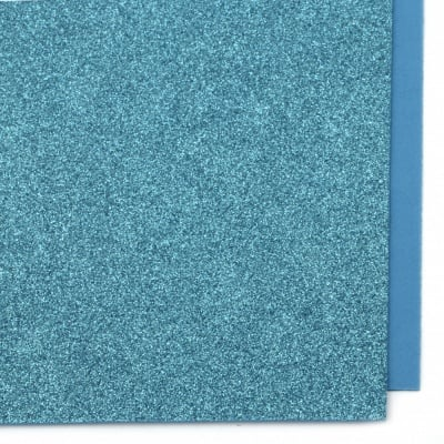 EVA материал /микропореста гума/ 2 мм А4 20х30 см с брокат син