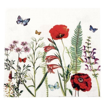 Салфетка HOME FASHION 33x33см трипластова Meadow in Bloom -1 брой
