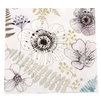 Салфетка HOME FASHION 33x33см трипластова Sweet Beauties -1 брой