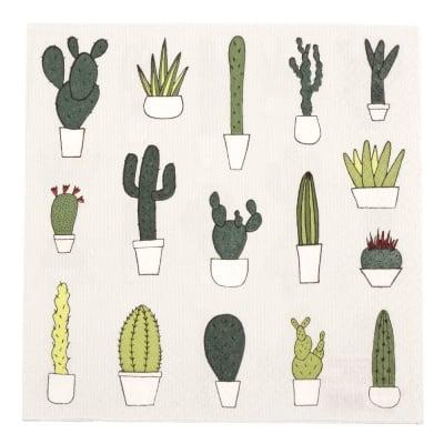 Салфетка HOME FASHION 33x33см трипластова Little Cactus -1 брой