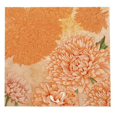 Салфетка HOME FASHION 33x33см трипластова Pure and Strong orange -1 брой