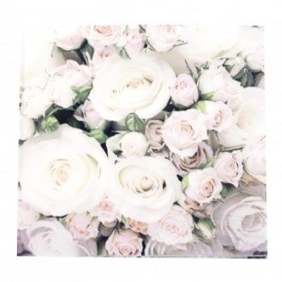 Салфетка HOME FASHION 33x33см трипластова Romantic Roses -1 брой