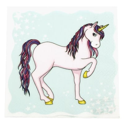Салфетка HOME FASHION 33x33см трипластова Unicorn -1 брой