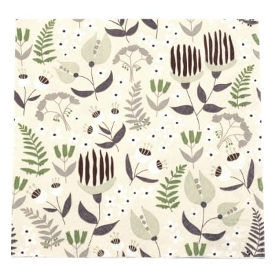 Салфетка HOME FASHION 33x33см трипластова Tropical Flora -1 брой