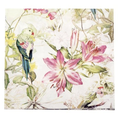 Салфетка HOME FASHION 33x33см трипластова Flora and Fauna -1 брой