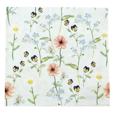Салфетка HOME FASHION 33x33см трипластова Little Garden -1 брой