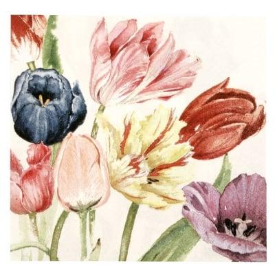 Салфетка HOME FASHION 33x33см трипластова Amsterdam Tulips -1 брой